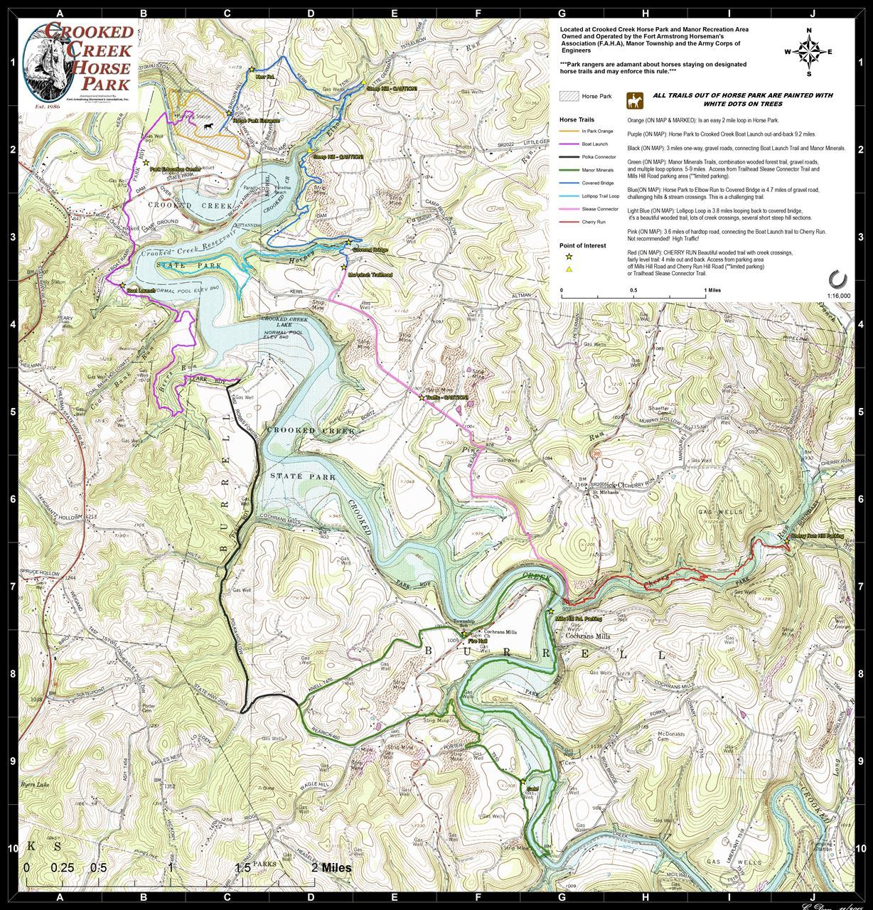 Fort armstrong horsemens association trails cchp all topo finalg crooked creek horse park trail system map publicscrutiny Image collections